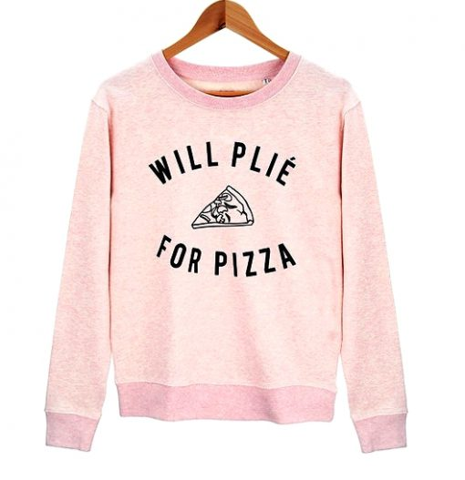 Will-Plie-For-Pizza-Pink-Sweatshirt-510x527